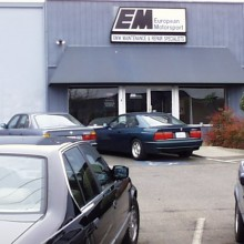 Storefront of BMW specialists European Motorsport service Chico CA